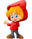 Cartoon little girl Stock Images