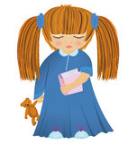 Cartoon little girl vector Stock Photo