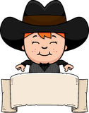 Cartoon Little Gunfighter Banner Stock Photo
