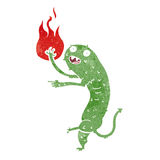 Cartoon little imp. With fire Royalty Free Stock Photos