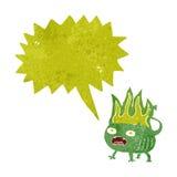 cartoon little imp with speech bubble Stock Images