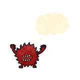 Cartoon little imp with thought bubble Stock Images