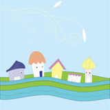 Cartoon little lovely houses Royalty Free Stock Photo