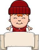 Cartoon Little Lumberjack Banner Stock Photos