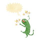 Cartoon little monster with speech bubble Stock Photography