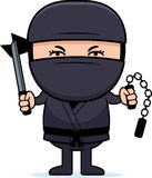 Cartoon Little Ninja Weapons Royalty Free Stock Image