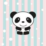Cartoon little panda. For invitations or cards vector illustration