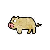 Cartoon little pig Royalty Free Stock Photography