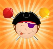 Cartoon little pirate. Of sweets Royalty Free Stock Images