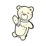 Cartoon little polar bear Stock Photography