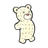 Cartoon little polar bear Stock Photo