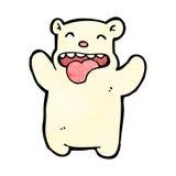 Cartoon little polar bear Royalty Free Stock Photos