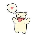 cartoon little polar bear in love Stock Images