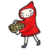 cartoon little red riding hood Stock Photo