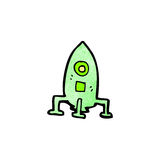 Cartoon little rocket Stock Photography