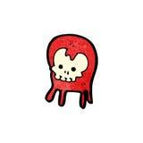 Cartoon little skull monster Stock Images