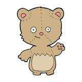 cartoon little teddy bear waving Royalty Free Stock Photo