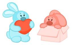 Cartoon little toy bunny Royalty Free Stock Photography