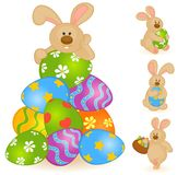 Cartoon little toy bunny Stock Photo