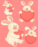 Cartoon little toy bunny with heart Stock Photo