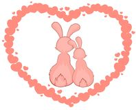 cartoon little toy rabbits Stock Photo
