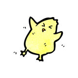 Cartoon little yellow bird Stock Image