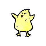 Cartoon little yellow bird Royalty Free Stock Photography