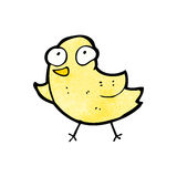 Cartoon little yellow bird Stock Photography