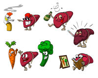 Cartoon Liver Set Royalty Free Stock Image