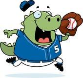 Cartoon Lizard Baseball Royalty Free Stock Photography