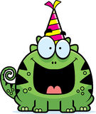 Cartoon Lizard Birthday Party Stock Photography