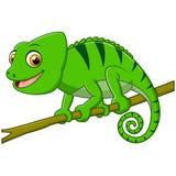 Cartoon lizard on branch. Illustration of cartoon lizard on branch stock illustration