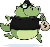 Cartoon Lizard Burglar Royalty Free Stock Photos