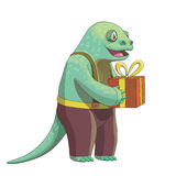 Cartoon lizard character, vector drawing Royalty Free Stock Photography