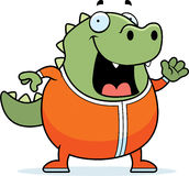 Cartoon Lizard in Pajamas Royalty Free Stock Photos