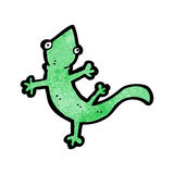 Cartoon lizard Stock Image