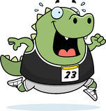 Cartoon Lizard Running Race Stock Photography