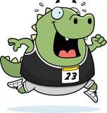 Cartoon Lizard Running Race Stock Photography
