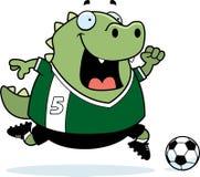 Cartoon Lizard Soccer Royalty Free Stock Photo
