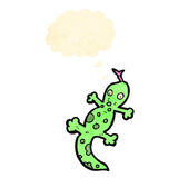 Cartoon lizard with thought bubble Royalty Free Stock Photo