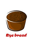 Cartoon loaf of spicy rye bread Stock Photo