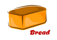Cartoon loaf of white wheat bread Royalty Free Stock Image