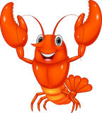 Cartoon lobster presenting Royalty Free Stock Photography