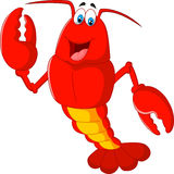 Cartoon lobster waving Stock Photos