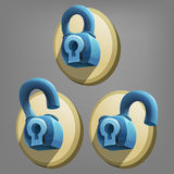 Cartoon lock icon vector. Stock Photography