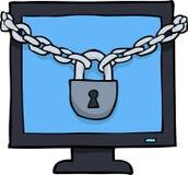 Cartoon lock screen Stock Images