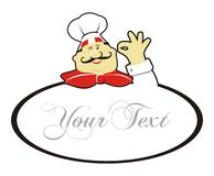 Cartoon logo chef stock illustration