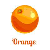 Cartoon logo orange Royalty Free Stock Photography