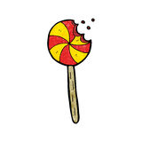 Cartoon lollipop Royalty Free Stock Photography