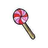 Cartoon lollipop Royalty Free Stock Image